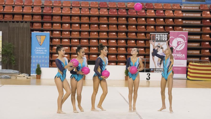 La Copa Catalana de gimnàstica rítmica aplega 800 espectadors al Nou Congost
