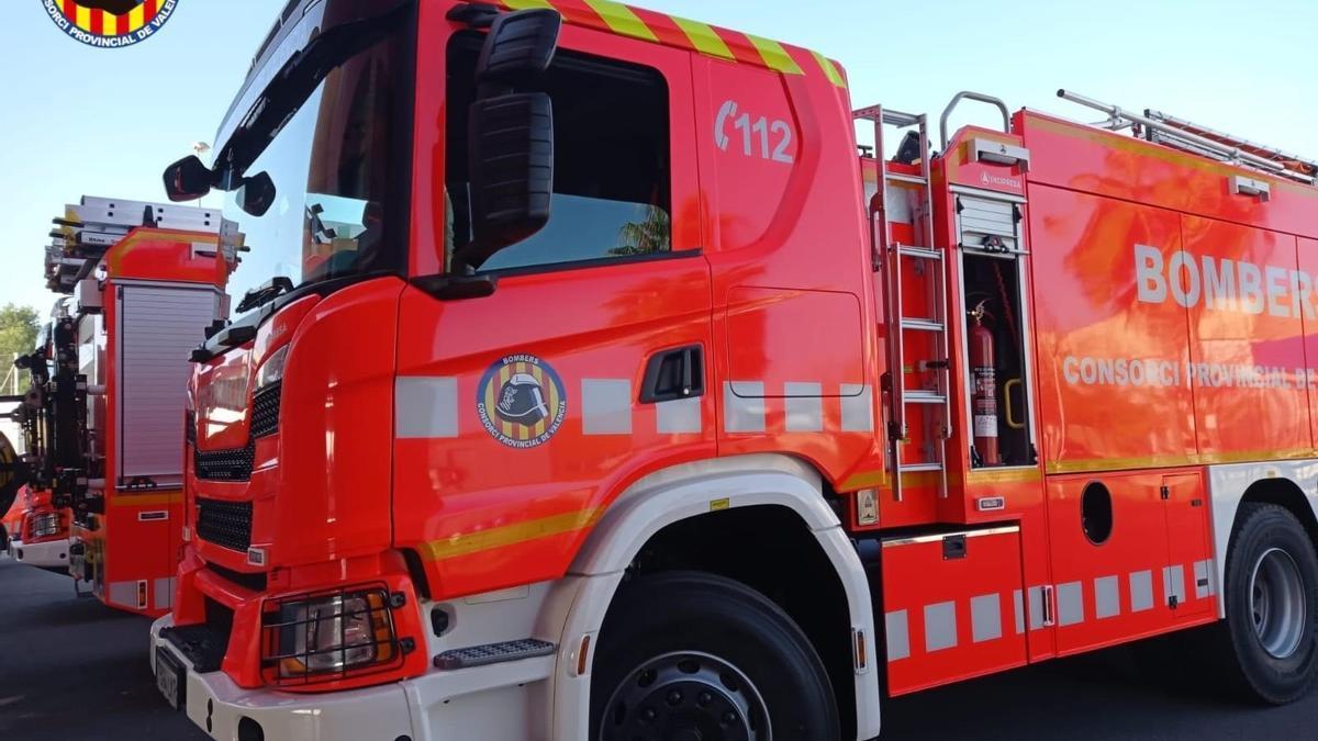 COMUNIDAD VALENCIANA.-Valencia.- El Consorcio Provincial de Bomberos invierte 1,18 millones de euros en tres nuevos camiones nodriza