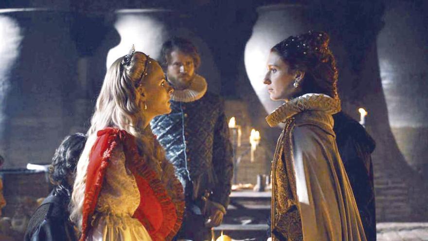 La 1 estrena mañana 'Reinas', la serie sobre la rivalidad entre dos grandes monarcas