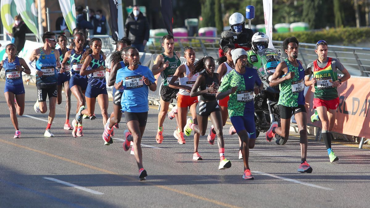 Un momento de la 40 edición  del Maratón de València