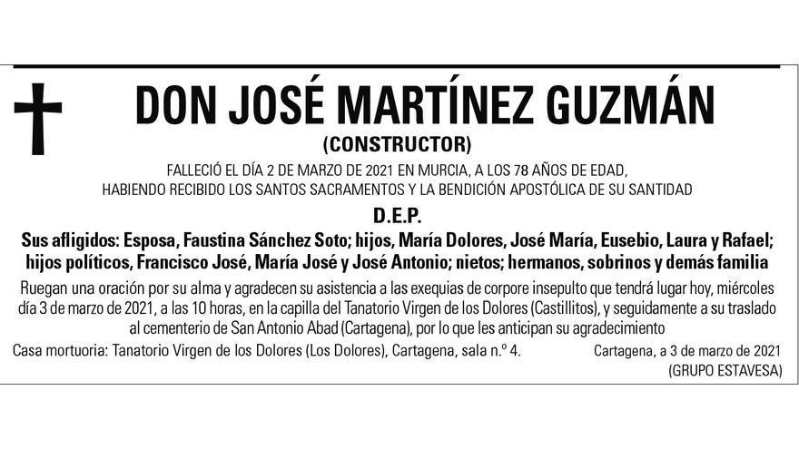 D. José Martínez Guzmán