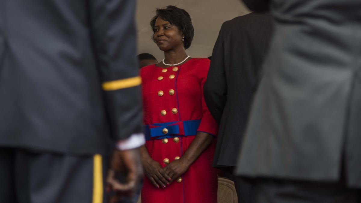 La viuda del presidente Jovenel Moise.