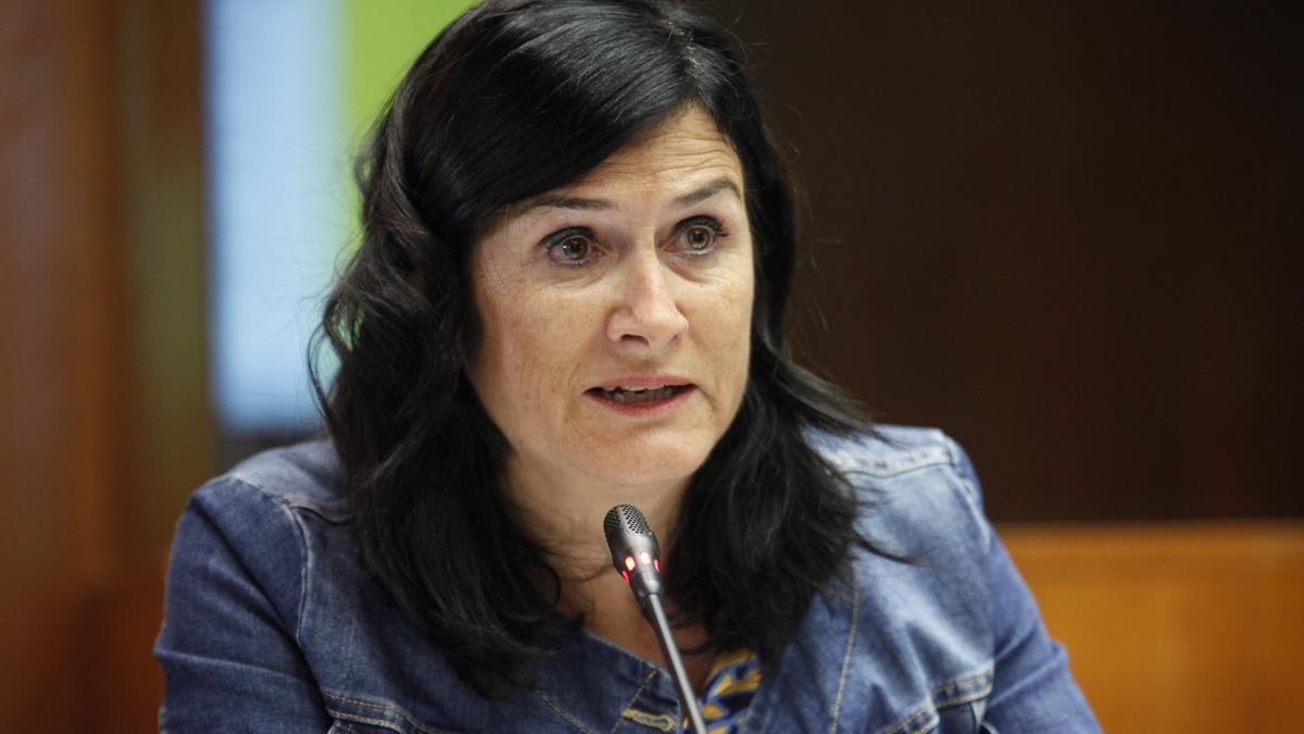 La secretaria general de Chunta Aragonesista, Isabel Lasobras.