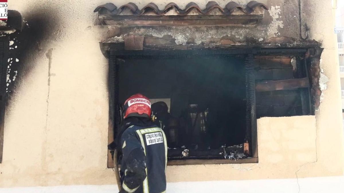 Incendio en una vivienda de Moncofa.