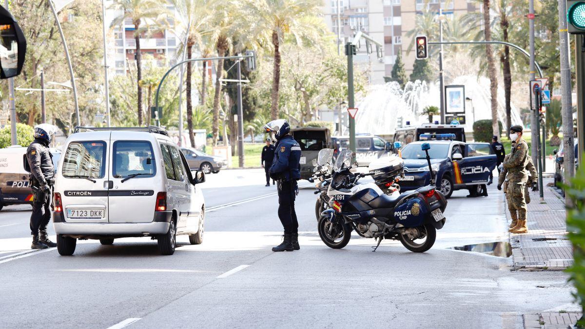 Control policial en Murcia