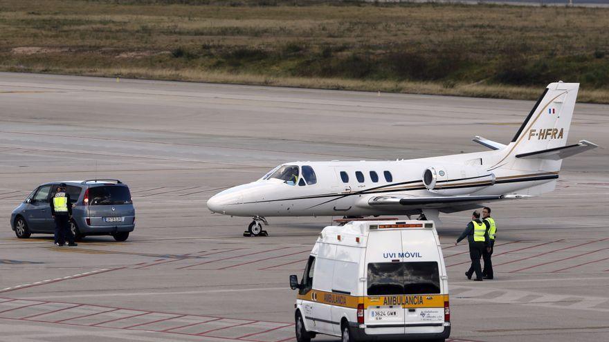 Una aeronave con órganos sufrió un accidente al despegar hacia Vigo