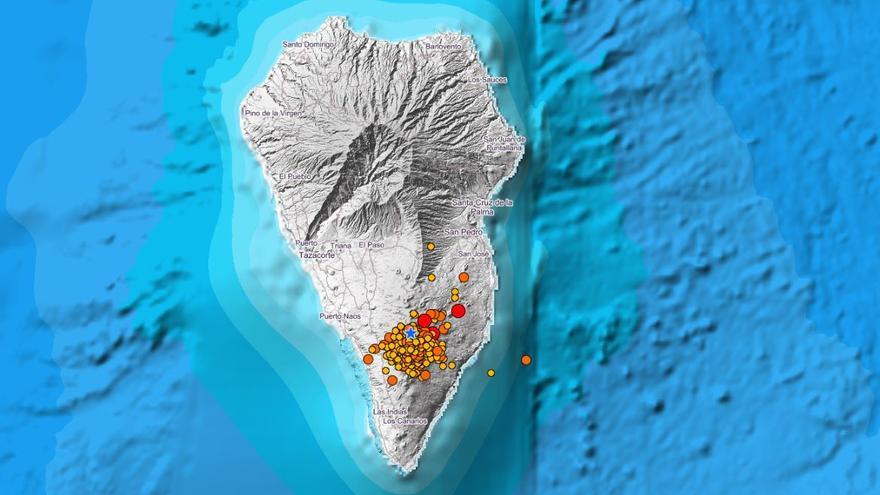La Palma registra más de 80 seísmos desde la pasada medianoche