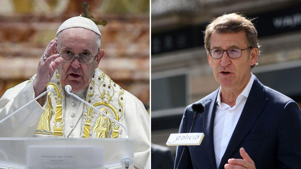El papa Francisco y Núñez Feijóo