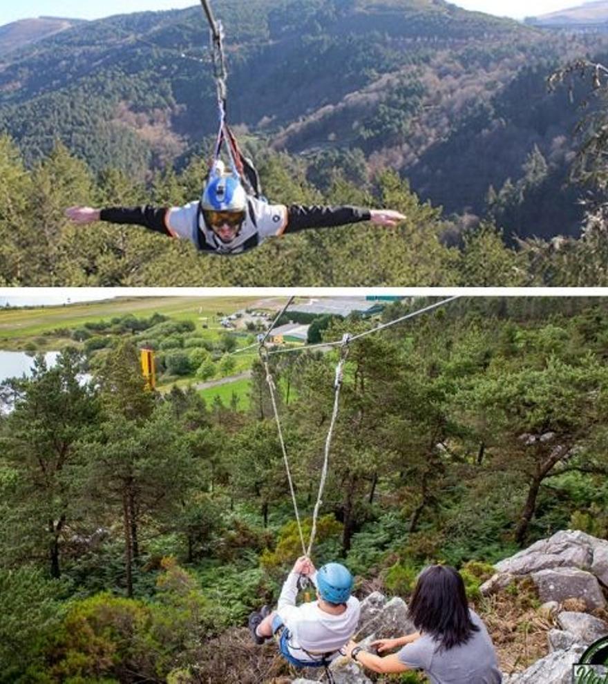 Tirolinas de vértigo y otros planes para liberar adrenalina en Galicia y Portugal