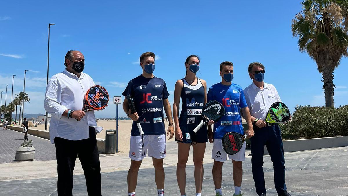 presentación del València Open, séptima parada de World Padel Tour, que celebrará sus fases finales entre el 7 y el 11 de julio en La Fonteta.