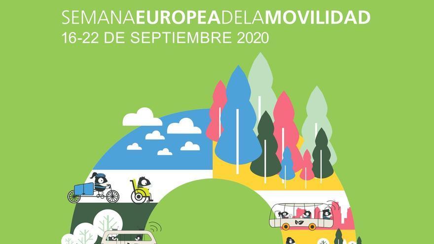 Cartel de la Semana de la Movilidad en Zamora 2020.