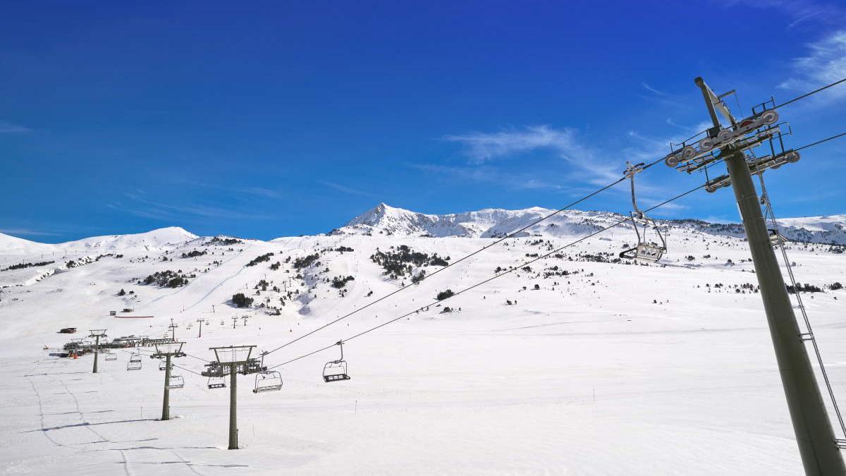 Estación de esquí en la provincia de Lleida.