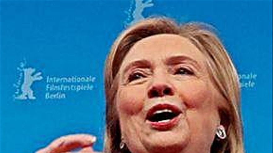 Hillary Clinton, estrella en la alfombra roja