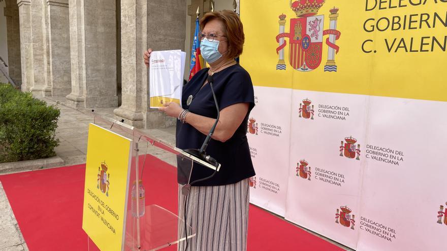 La delegada del Gobierno asegura que la C. Valenciana ha recibido 4.210 millones para remontar la pandemia