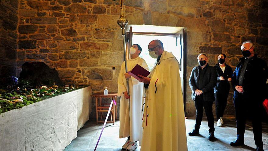 Bendición del Belén en la antigua iglesia de A Pastoriza