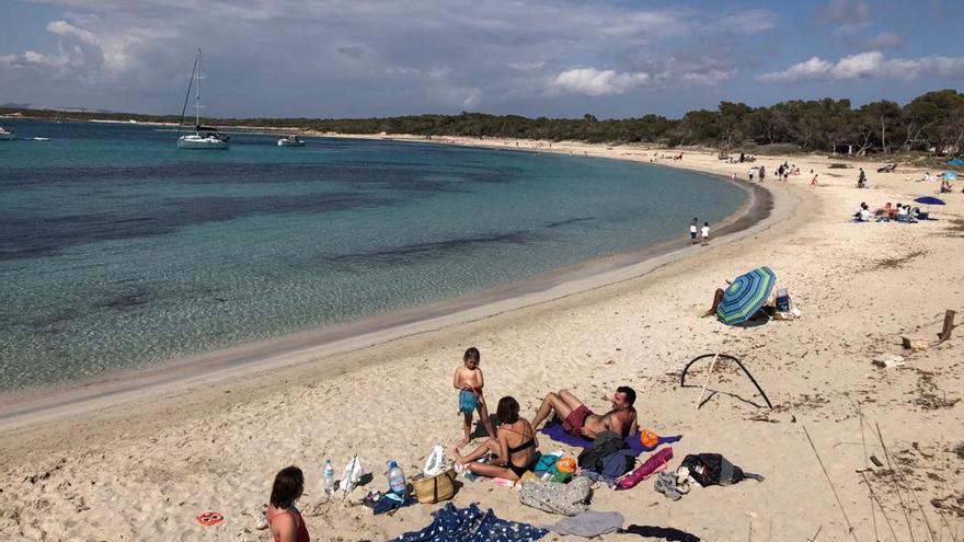 Playa de els Estanys de la Colònia de Sant Jordi.