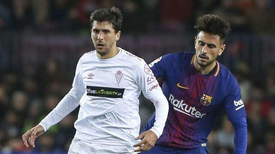 El exjugador del Oviedo David Costas debuta en Copa del Rey con el Barcelona