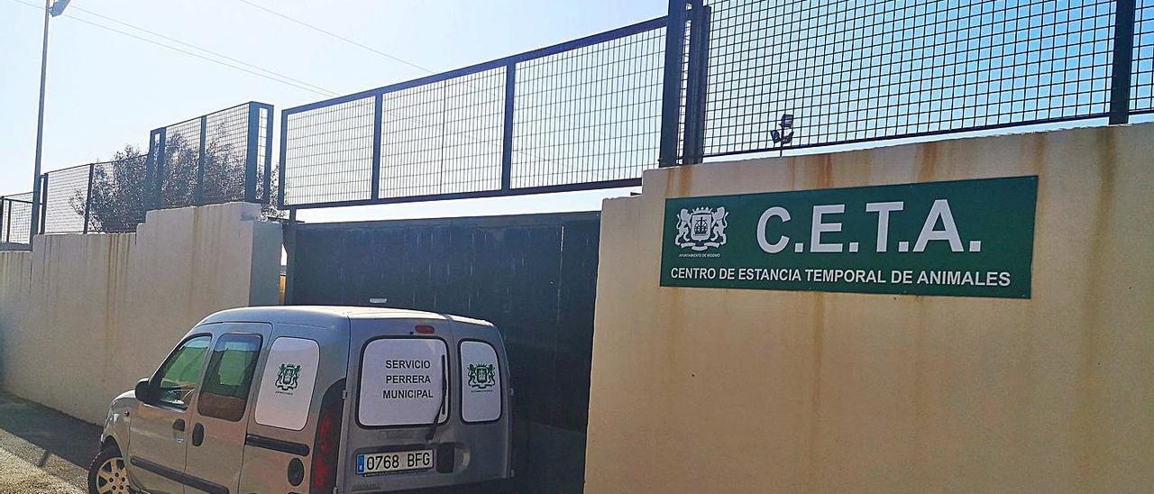 La entrada principal del Centro de Estancia Temporal de Animales (CETA), en Mafú Alto. junto al punto limpio.     LP/DLP