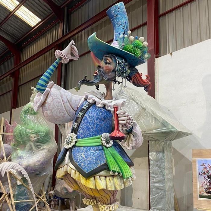 Una reconocible figura de Exposición, en el taller de David Sánchez Llongo.