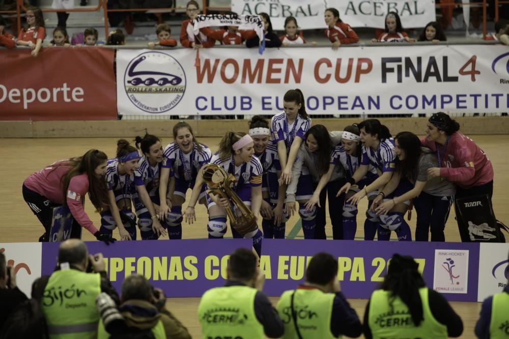 Final de la Copa de Europa de hockey en el Palacio de Deportes de La Guía.