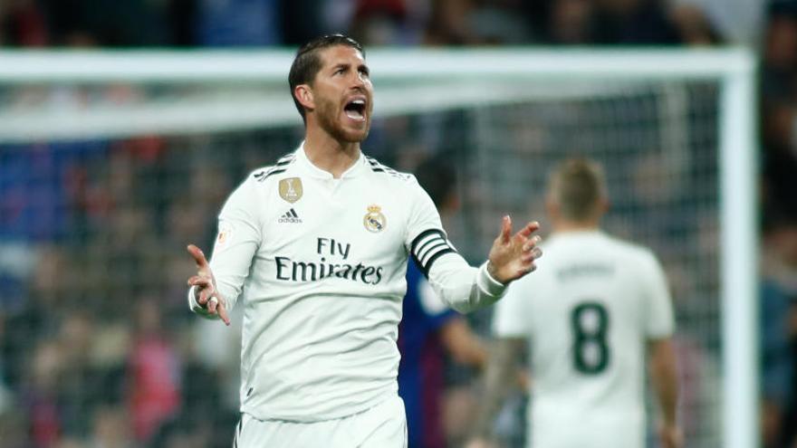 El jugador del Real Madrid, Sergio Ramos.