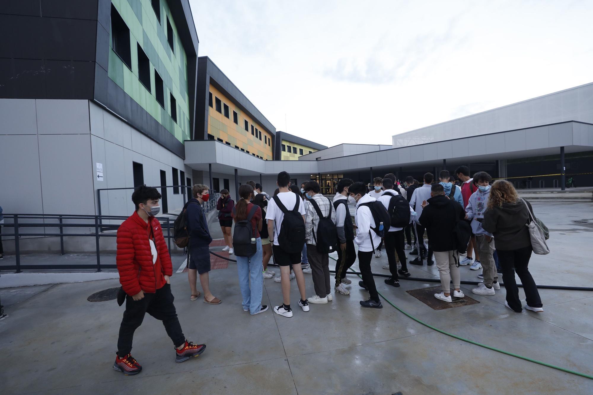 Primer día de Secundaria en el flamante instituto de La Fresneda