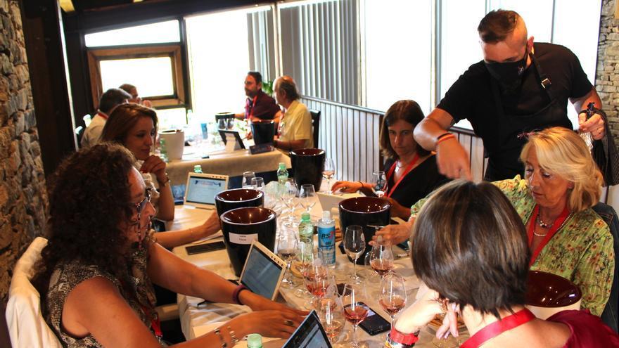 Ochenta catadores valoran los vinos en los Premios VinDuero-VinDouro 2021