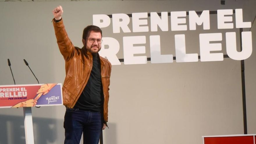 "Aragonès pide a los jóvenes movilizarse contra el ""fascismo"" como en la Guerra Civil"