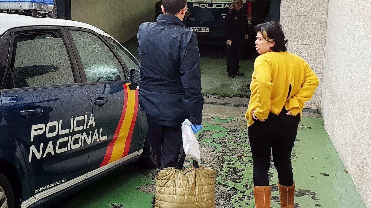 La condenada, a su paso a disposición judicial, en 2018. // Marta G. Brea