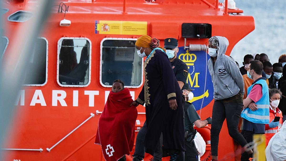 Llegada de migrantes a Fuerteventura el pasado viernes