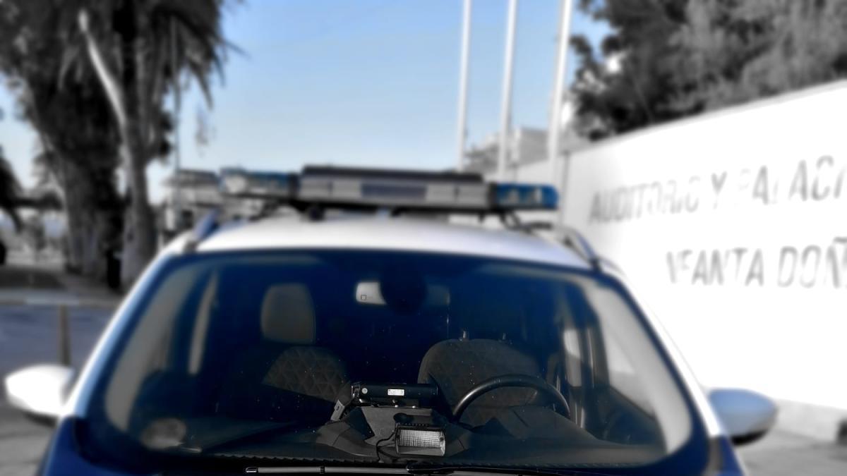 Coche de la Policía Local de Águilas.