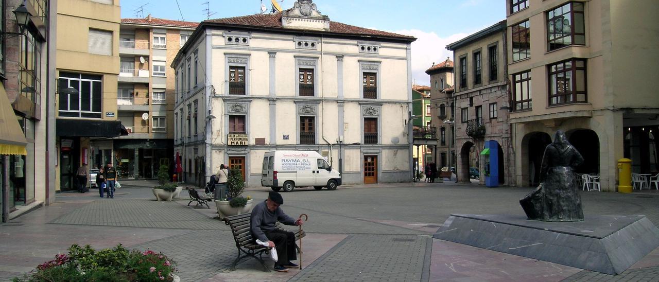 La Plaza General Ponte, en la villa de Grado, en una imagen de archivo