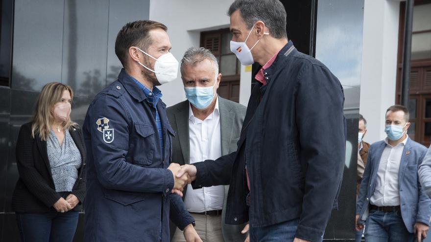 Sánchez anuncia que se acelerarán las ayudas del Gobierno a La Palma