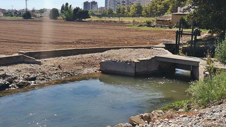 El nuevo caudal llega al riego de la huerta del sur