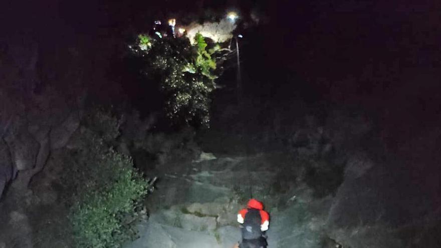 Cinco personas rescatadas cuando hacían senderismo