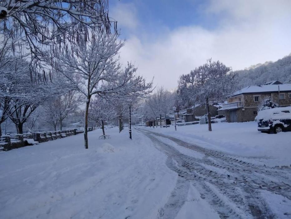 Porto, el pueblo nevado de Zamora