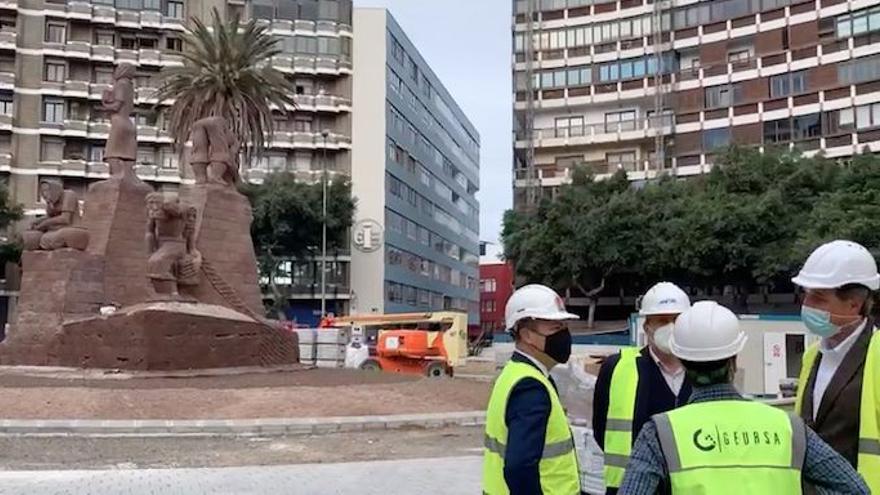 La remodelación de la plaza de España acaba en abril tras siete meses de obra