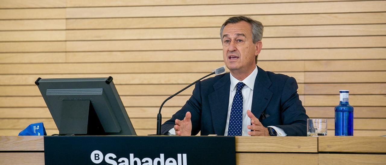El consejero delegado del Sabadell, César González-Bueno.