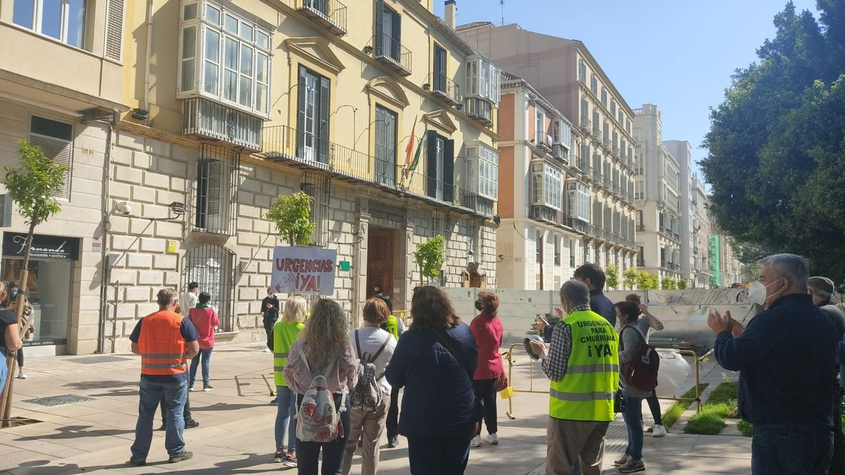 Concentración por las urgencias médicas en Churriana este martes en la Delegación del Gobierno andaluz