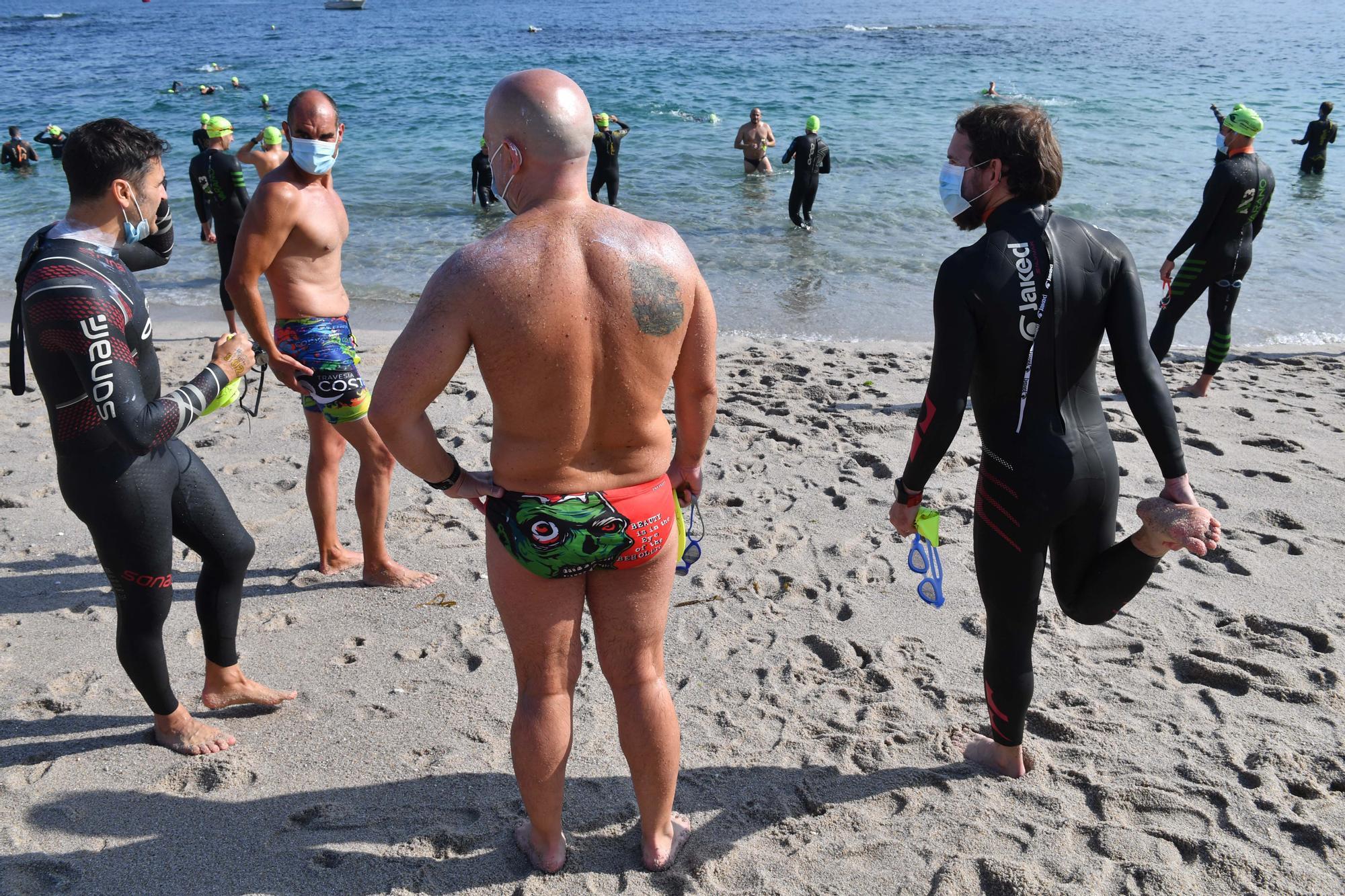 Travesía Costa Coruña en la playa de Riazor