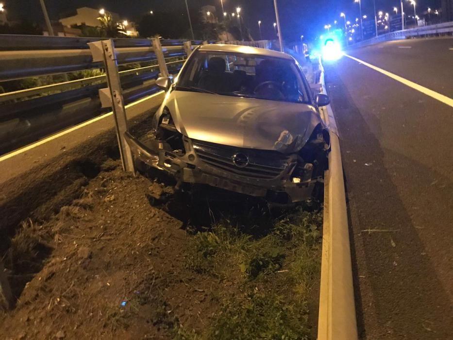 Varios conductores ebrios protagonizan accidentes en Gran Canaria en Navidad