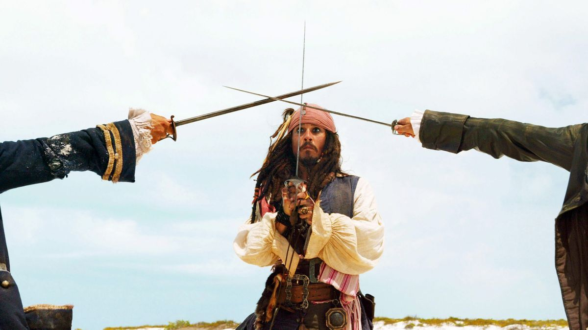 Johnny Depp as Jack Sparrow in one of the & # 039; Pirates of the Caribbean & # 039; movies