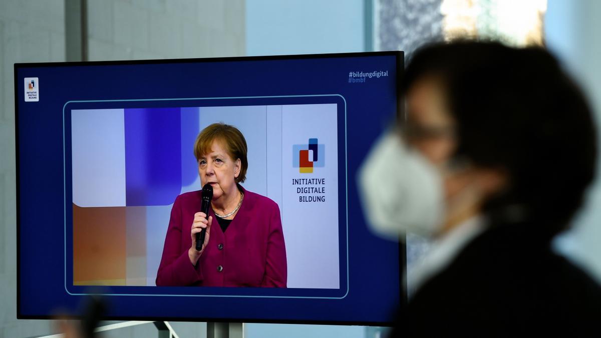 Angela Merkel, en una comparecencia
