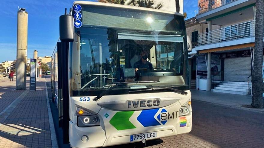 Una mujer se desnuda en un bus de Palma