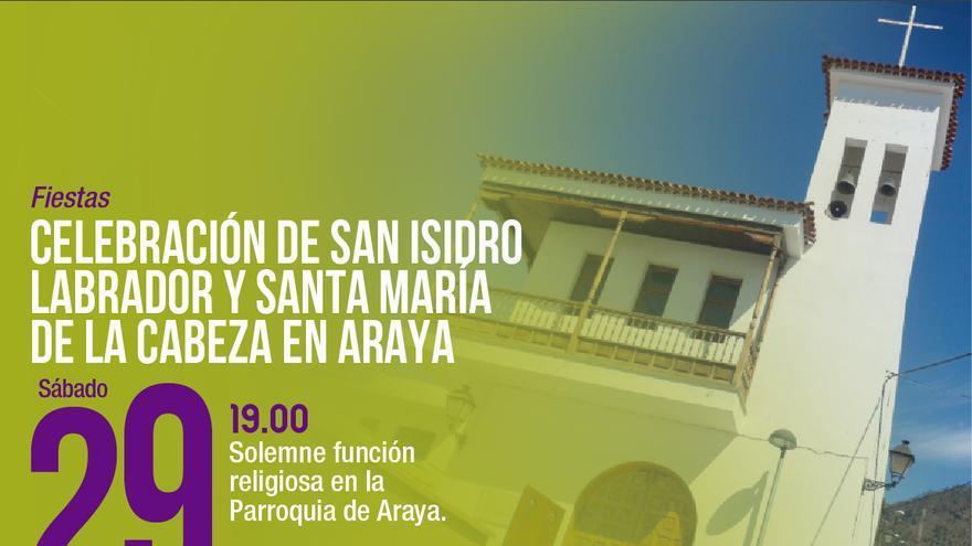 Celebración de San Isidro Labrador y Santa María de la Cabeza en Araya
