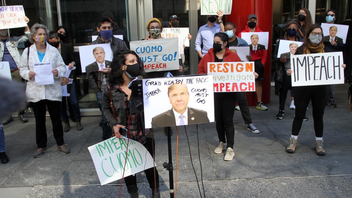 Protestas contra el gobernador de Nueva York, Andrew Cuomo