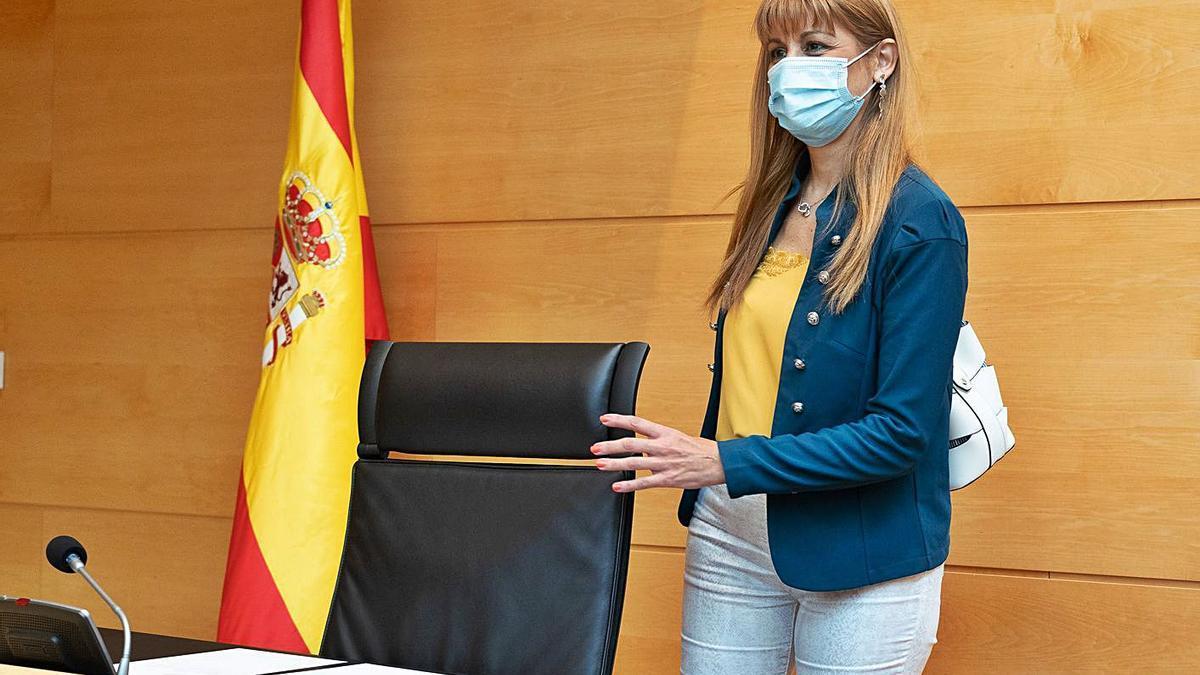 La directora general de Presupuestos, María Isabel Campos, momentos antes de su comparecencia ayer. | Ical