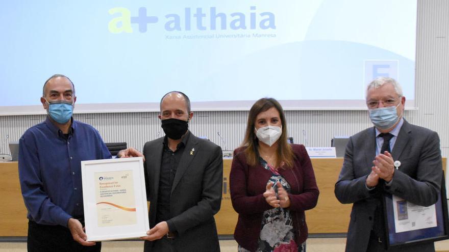 Althaia obté el Segell d'Excel·lència Europea per la qualitat del seu servei i la tasca dels professionals