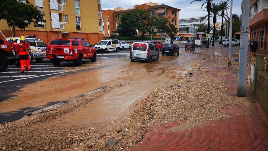 Las tormentas dejan 65 litros en Capdepera y provocan incidentes en Cala Rajada, Son Moll y sa Font de sa Cala