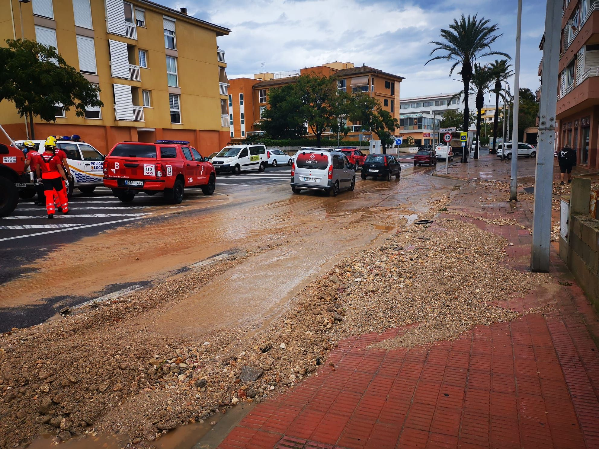 Intensas lluvias e incidentes en el noreste de Mallorca
